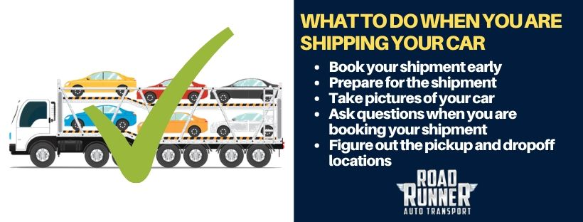 what to do when you are shipping your car